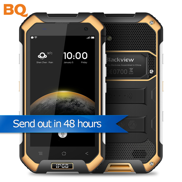 "Instock Blackview BV6000S Smartphone 4G LTE Waterproof IP68 4.7"" MT6735 Quad Core Android 6.0 Mobile Phone 2GB RAM 16GB ROM 13MP"