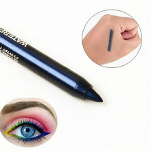 1Pcs Sexy Splendida Navy Blue Affascinante Eyeliner Triangolo Sigillo Eyeliner 2-in-1 Impermeabile Occhi Make Kit con Penna Eyeliner Eyeline(China)