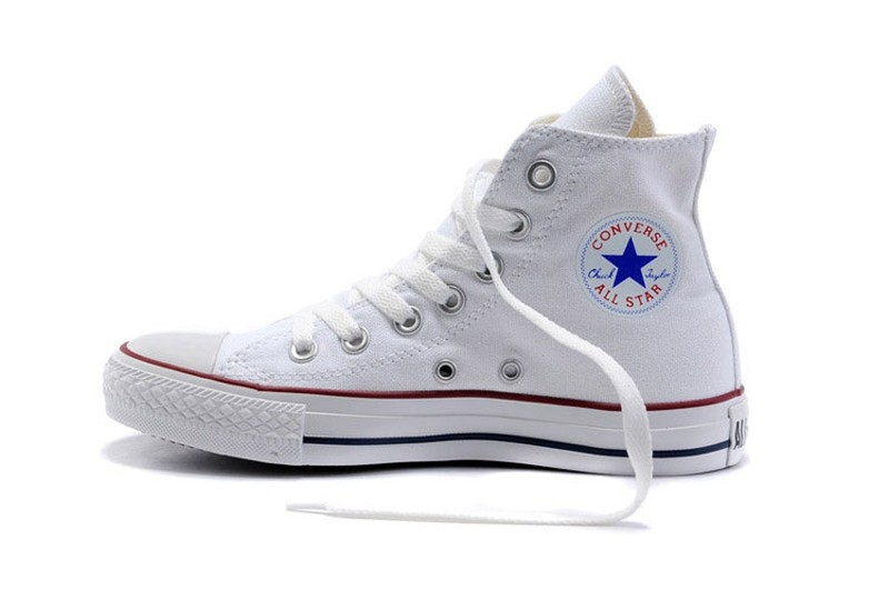 Converse Men And Women Skateboarding Shoes Classic Unisex Canvas High Top  Anti Slippery Resistant Comfortable leisure Quick dry-in Skateboarding from  Sports ... 551eef926d59