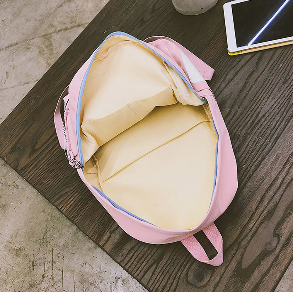 Menghuo Brand Design Badge Women Backpack Bag Fashion School Bag For Girls Female Chain Backpack Lady Shoulder Bag Mochilas #2