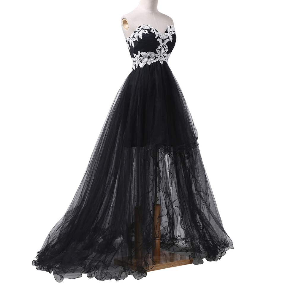 schwarz formale abendkleid lange 2020 high low hochzeit gast kleid schatz  prom kleider importiert party kleid