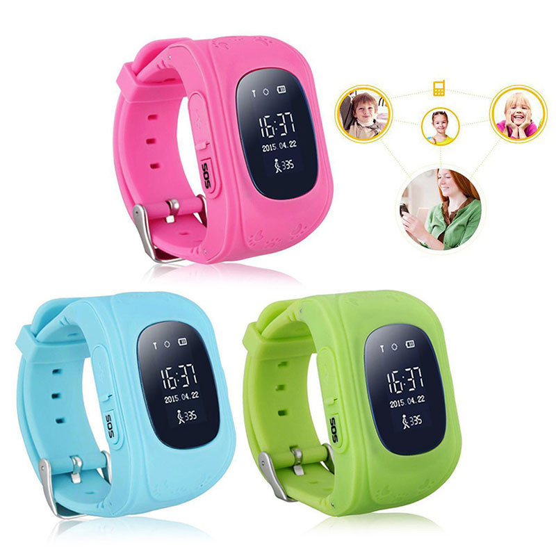 Q50 Anti lost Children Safety Tracker Kids Smart Phone GPS Watch For Android IOS