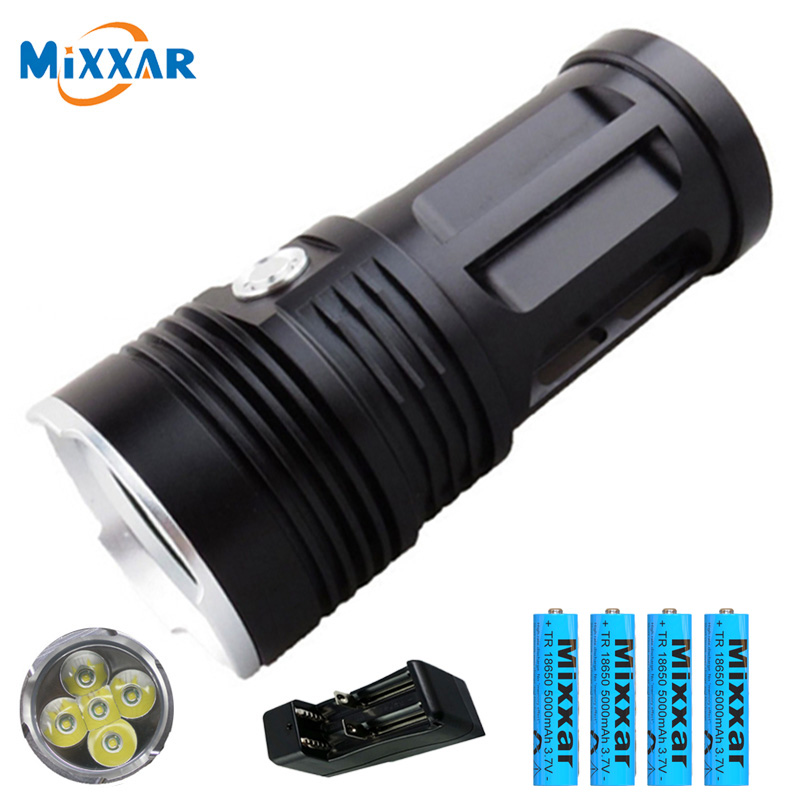 Super Bright XML T6 5000lm LED Flashlight Tactical Hunting Light Torch 18650 Kit