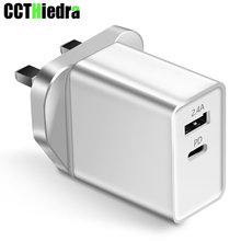 29W Tpye C Mobile Phone Charger UK Plug USB wall Charger Adapter Fast PD charge USB charger PD type-c For MacBook iPhone Xiaomi type c pd test board burn in board decoy test protocol board pd fast charge