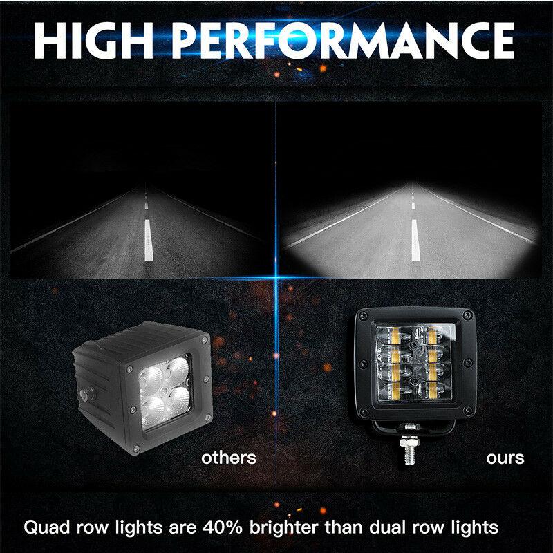 Image 5 - CO LIGHT 9D 80W Car Led Light Bar 3inch Work Light Flood Led Beams DRL 12V 24V for Jeep Tractors Boat 4x4 Truck SUV ATV Fog Lamp-in Light Bar/Work Light from Automobiles & Motorcycles