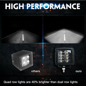 Image 5 - CO LIGHT 9D 80W 자동차 Led 라이트 바 3 인치 작업 빛 홍수 Led 빔 DRL 12V 24V Lada 트랙터 보트 4x4 트럭 SUV ATV 안개 램프