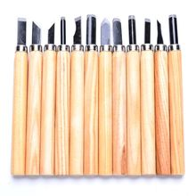 12Pcs Wood Carving Hand Chisel Woodworking Tool Set Woodworkers Gouges Hot 12pcs wood carving set hand woodworking tool knife professional gouges