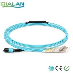 Image 1 - 1 m Cavo Patch MPO MTP OM3 Femmina a 6 LC UPC Duplex 12 Fiber Patch cord 12 Core Ponticello OM3 Breakout Cavo, tipo A, di Tipo B,