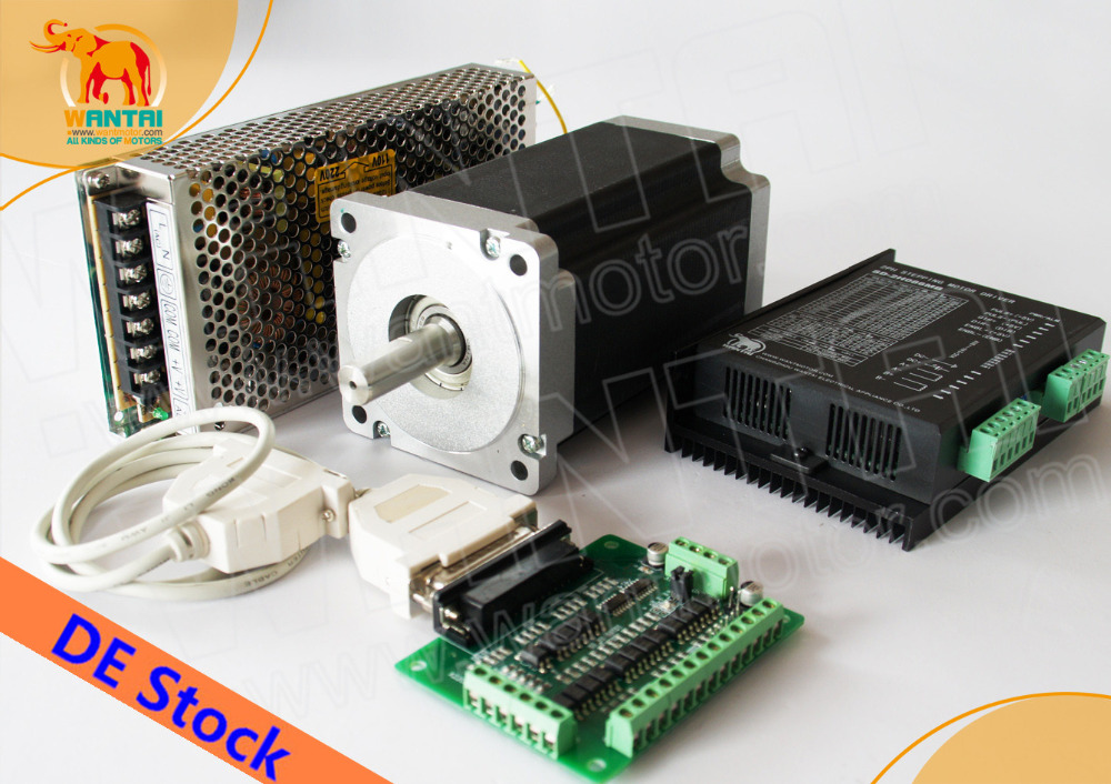 [Germany Stock&EU Free]! CNC Wantai 1Axis Nema34 Stepper Motor 85BYGH450C-060 1700oz-in 151mm 6A CNC Machine Milling Engraving new in stock 2mbi150nd 060 01