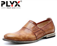 Brand PHLIY XUAN England Retro New 2017 Men Casual Shoes Genuine Leather 100 Handmade Chaussure Homme