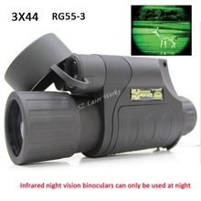 Wholesale Gen1 all dark night vision sight 3X44 monocular infrared night vision goggles telescope for hunting night scope free shipping