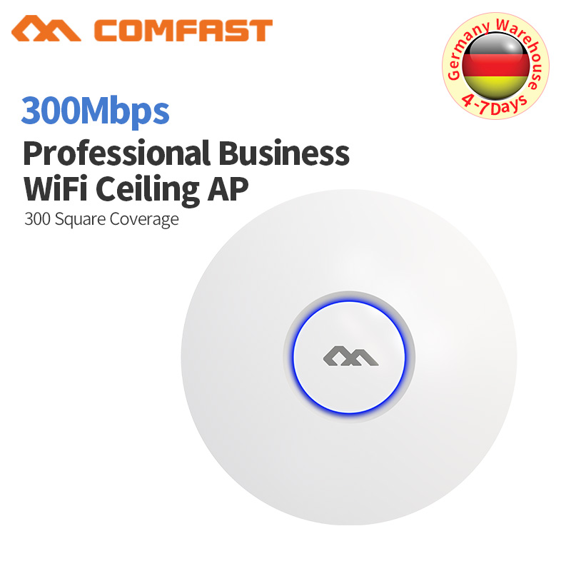 COMFAST Wireless AP CF-E320V2 300Mbps Ceiling AP 802.11b/g/n 2.4G Indoor AP 48V POE Power 16 Flash Open Wrt WiFi Access Point AP