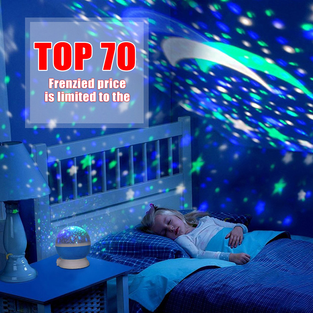 2018 New Stars Starry Sky LED Night Light Projector Moon Novelty Table Night Lamp Battery USB Night Light For Children novelty led night light wireless remote control dimmable night lamp rgb kids children desk table lights usb 5v