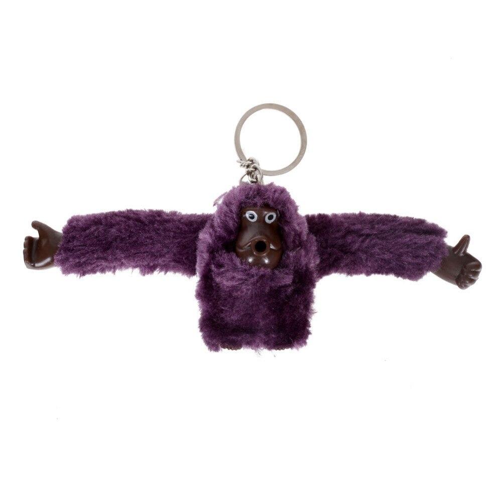 8 Colors Fashion 3D Plush Monkey Keychain Cute Animal Pendant Key Chain  Gorilla Keyring For Women Men Handbag Accessories d90164f1bca6