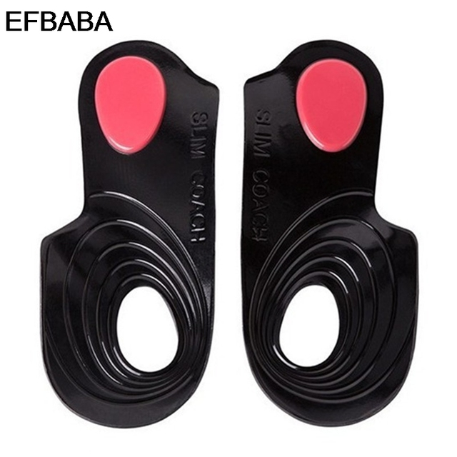 EFBABA No Slip Orthopedic Insoles Pads Gel Cushions Heel Inserts O-legs Correction Orthopedic Shoes Insole Accessoire Chaussure
