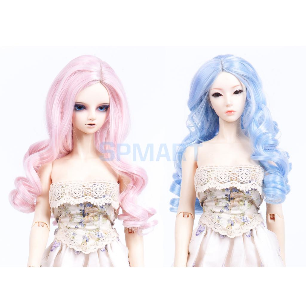 Fantasy Full Head Middle Parting Wavy Wig Hairpiece Hair for 1/3 BJD SD LUTS Dollfie DIY Making & Repair Accessories