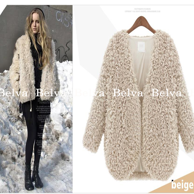 Belva Maternity Winter Coat Women Fashion Lamb Loose Clothing Cotton Short sweaters Fur Coats for Pregnant Women 723