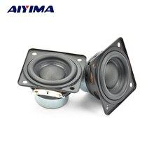 AIYIMA 2 шт 48 мм полночастотный динамик Bluetooth аудио 4 Ом 10 Вт портативный динамик Неодимовый магнитный резиновый край громкий динамик