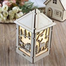 Drewniany lampion dekoracyjny