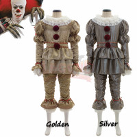 Stephen King's It Pennywise cosplay costume Clown Joker Evil Horror Terror Halloween Outwear Pants Suits Outfit Cosplay Costume