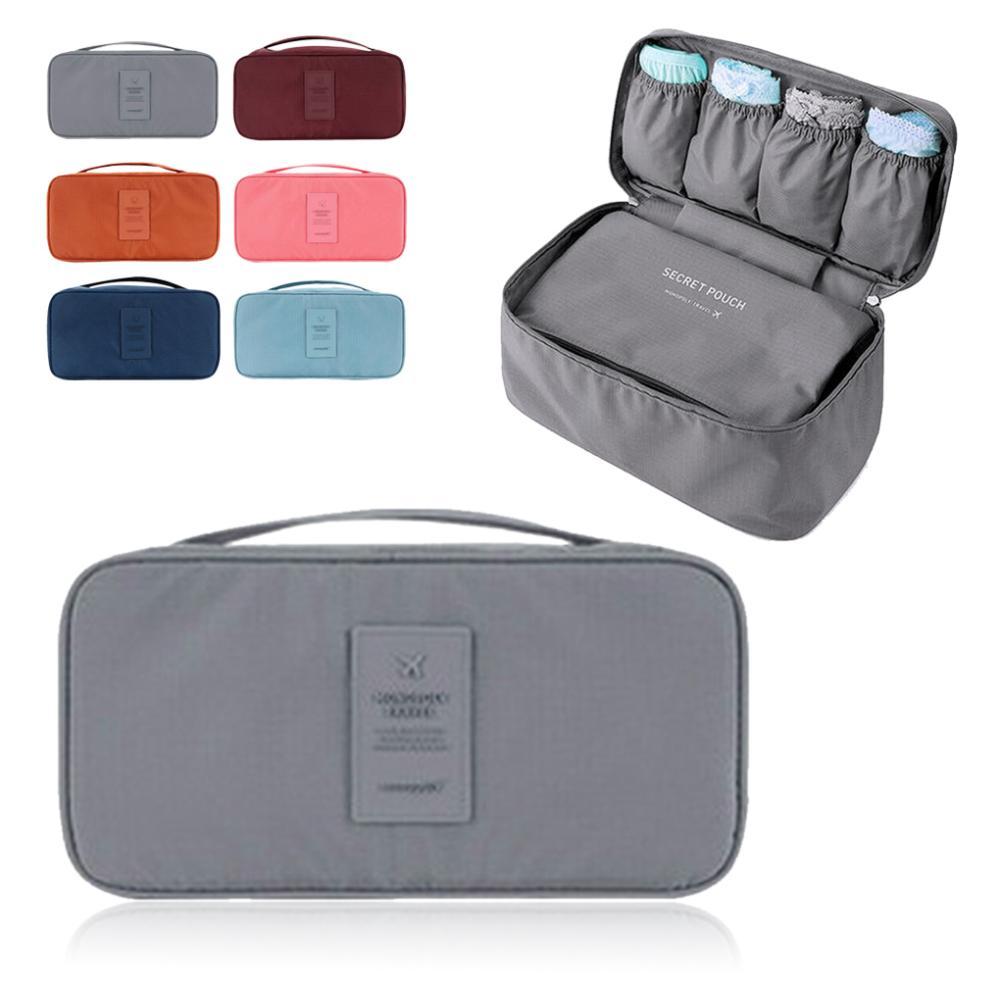 Women Useful Waterproof Organizer Bag Pouch Travel Trip Luggage Bra  Underwear Handbag Storage Bag