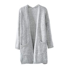 Women Fashion Knitted Sweater Coat Long Sleeve Cardigans Casual Loose Jacket Outwear Autumn Winter Good Quality(China)