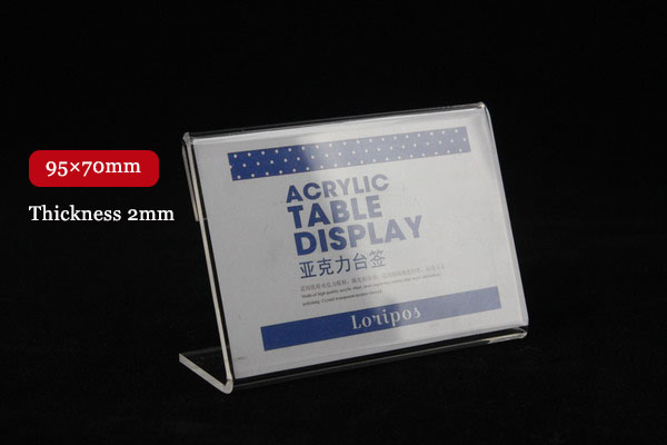 95X70mm 20pcs Tag sign card display stand Acrylic table Desktop Paper Name plate stand L shapeLabel Sign Holder display Stand-in Frame from Home u0026 Garden on ... & 95X70mm 20pcs Tag sign card display stand Acrylic table Desktop ...