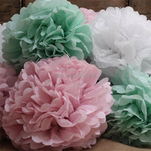 Buy giant flower decorations and get free shipping on aliexpress 20inch50cm 3pcslot giant tissue paper flowers pom pom decoration hanging birthday marriage mightylinksfo