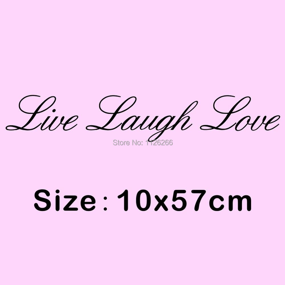 Live Laugh Love Quote Aliexpress  Buy Live Laugh Love Quotes Vinyl Wall Art Decals