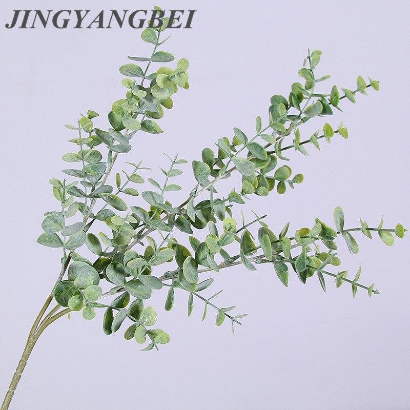 69cm Artificial Plastic Eucalyptus Tree Branch Christmas Wedding Decoration Flower Arrangment Small Leaves Plant Faux Foliage