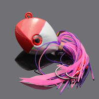150g Derin Deniz Balıkçılığı Jig Balık Kırmızı Turuncu Jig Başkanı Lures Tekne Trolling Cazibesi Sert Yem 3D Gözler Ile 1 Parça Satış Kurşun Ürün