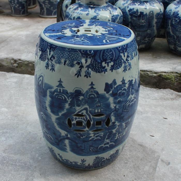 Blue Garden Stool