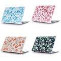 4 цвет цветочным узором жесткий чехол для Macbook Air Pro 11 12 13 15 + нью-retina бесплатная доставка ноутбук сумка