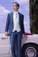 2016 New Custom Male Designer Suits And Royal Blue Overcoat Man Suit Man 3 Piece Suit