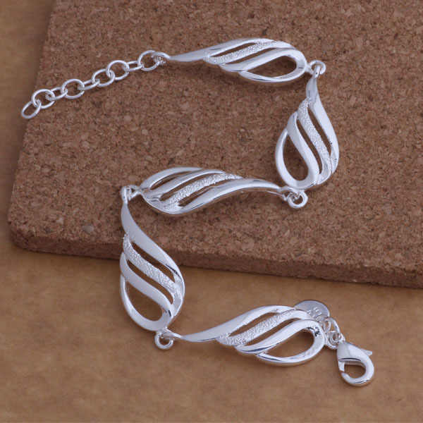 AH002 Nóng bạc 925 vòng tay, Bạc 925 trang sức thời trang Năm cánh/agwaiyda auyajmfa