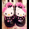 Теплая Зима Плюшевые Девушки Снег Сапоги Новое Прибытие 2016 Cute Hello Kitty Детская Обувь Ботильоны Зима #2504