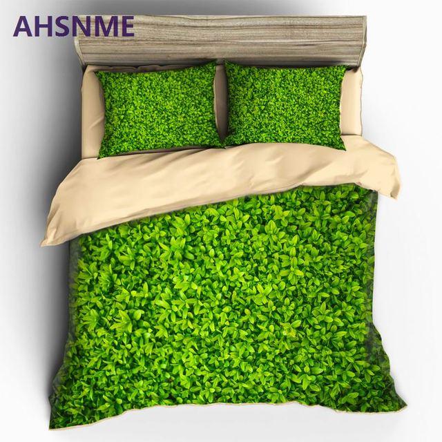 Ahsnme Green Plant 3d Bedding Sets Duvet Cover Set Flower Plant
