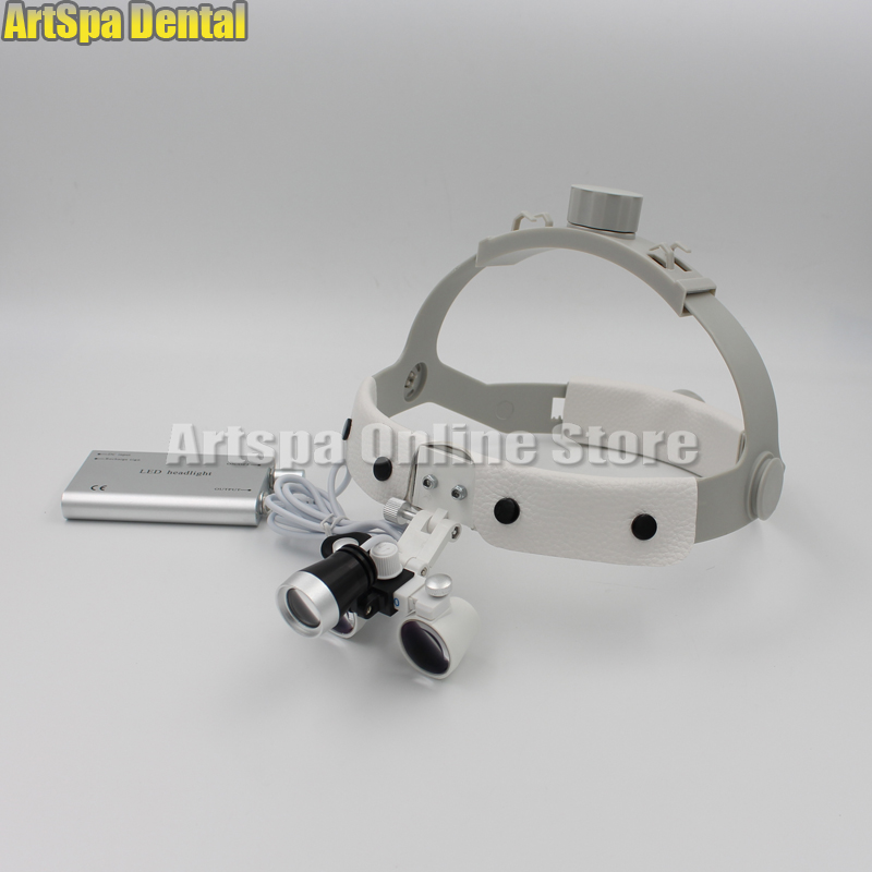 2.5X times surgery operation surgical Magnifier Dental Loupe with LED light free shipping dental loupes 6 times 5 times 4 times doctor s surgery magnifying glass surgical orthopedic spine