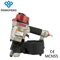 RONGPENG HEAVY DUTY COIL PALLET NAILER MCN55 Compatible With Max55 Wooden Framing Nailer Gun Pnuematic Coil Nailer Compressor