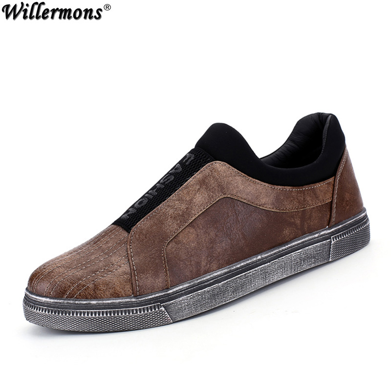 2017 Men's New Fashion Casual Vintage Loafers Shoes Men Leisure Slip on Driving Flats Shoes Retro Style Zapatos Masculino 2017 new flats men shoes zip round toe leather men loafers shoes fashion brand outdoor shoes casual sapatos masculino