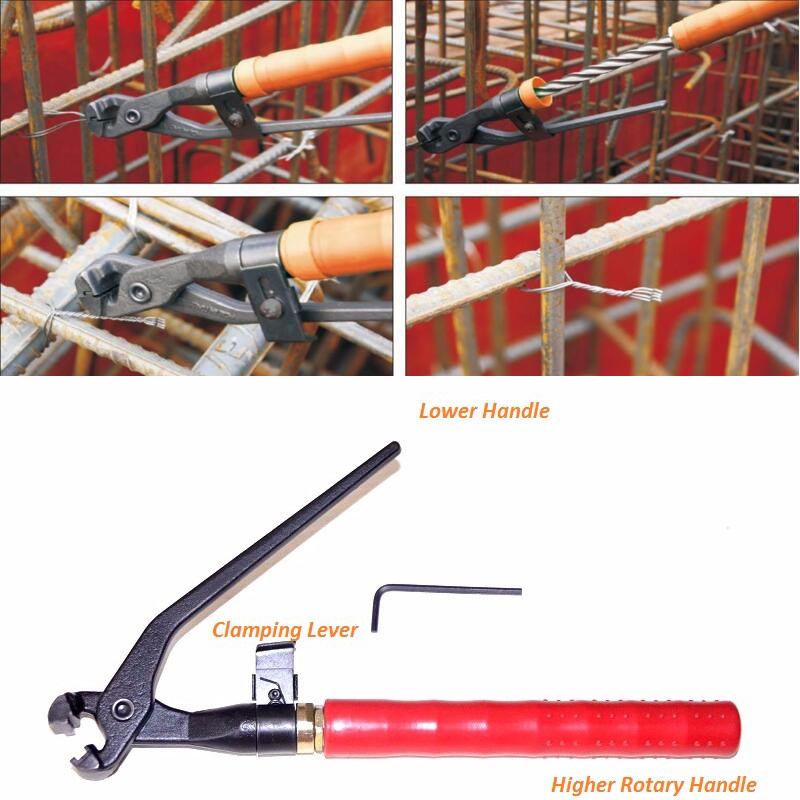 Hot sale Rebar Tier Tool for 0.8/1/1.2/1.5 soft wire Manual Rebar Tying Plier best price mgehr1212 2 slot cutter external grooving tool holder turning tool no insert hot sale brand new