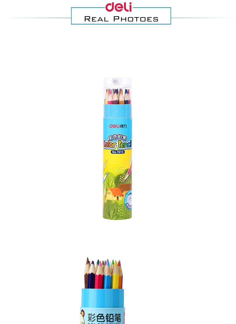 Deli painting color pencil 12/18 colors High quality drawing painting colors pencil artist supplies sketch Color Pencil 6