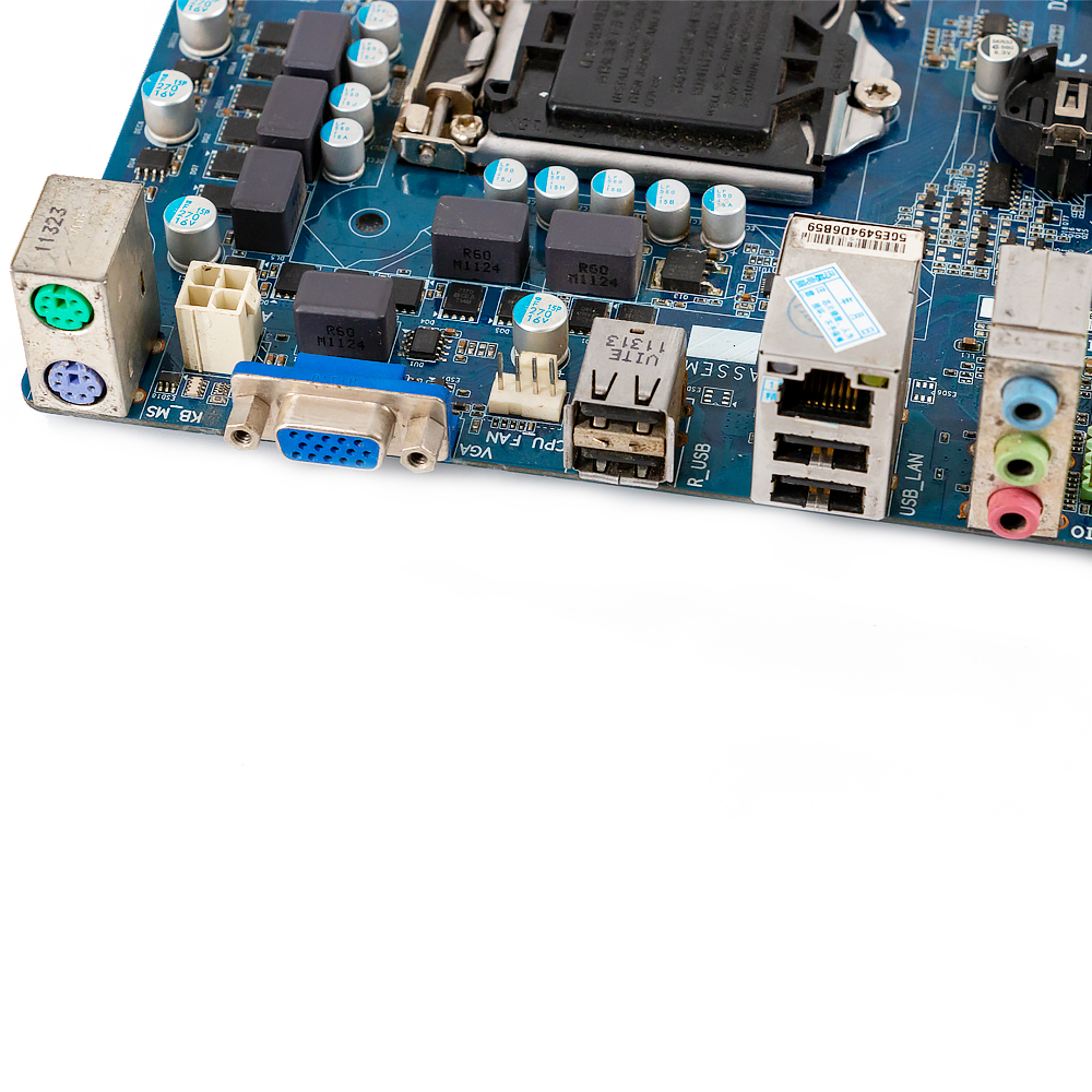 Image 5 - Gigabyte GA H61M DS2 Desktop Motherboard H61M DS2 H61 LGA 1155  For Core i3 i5 DDR3 16GB Micro ATX Used MainboardMotherboards   -