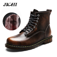 High Quality Genuine leather Winter Men Warm Boots Winter Casual Ankle Boots Martin Boots Outdoor Working Boots Men Shoes