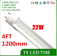 "T8 LED Tube Light 4ft 48"",22W,3000K4000K6000K , 2200LM, Without a Ballast! Fluorescent Replacement Light Lamp, 2Sided Connection(China)"