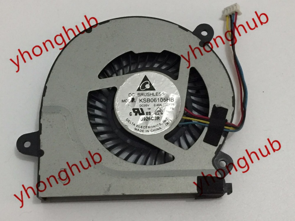 Delta KSB06105HB DF75 DC 5V 0 40A 4 wire Server Laptop Cooler Fan