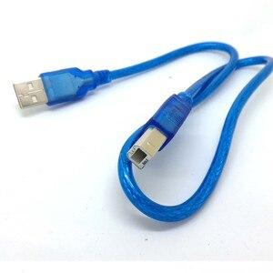 Image 2 - 1,5 фута 50 см синий короткий новый высокоскоростной USB кабель 2,0 A на B штекер для Canon Brother Samsung Hp Epson шнур для принтера