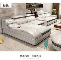 Гостиная диван угловой диван кресло массаж из натуральной кожи секционные минималистский muebles де Сала moveis para casa