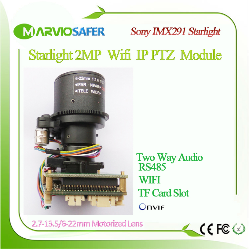 1080P FULL HD 2MP Starlight Sony IMX291 Colorful Night Vision CCTV Network PTZ IP Camera Module
