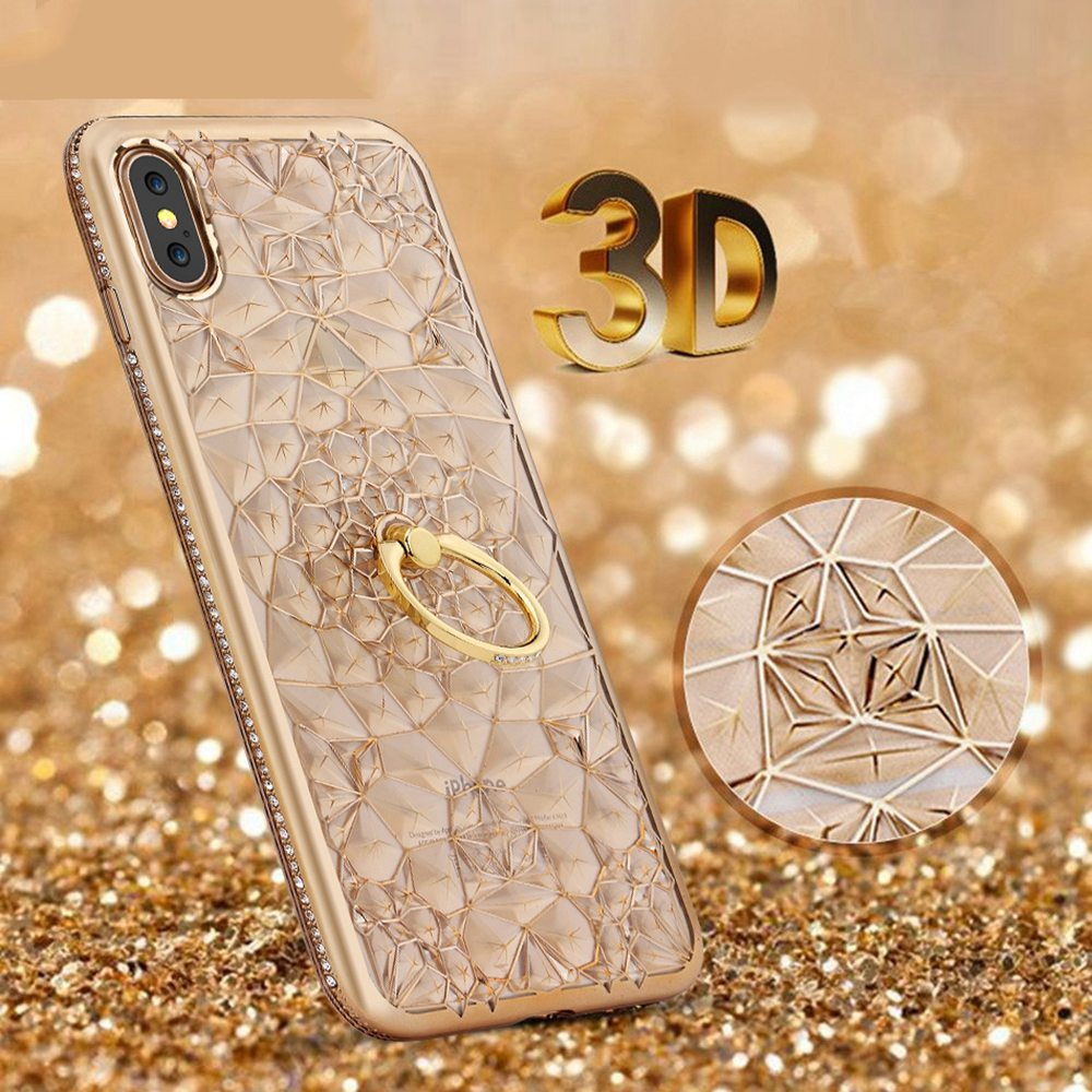 Luxury Case For <font><b>Samsung</b></font> Galaxy A50 A30 Case Silicon Glitter Diamond Ring Cover For <font><b>Samsung</b></font> S10 Lite S10E A9 <font><b>A7</b></font> A8 Plus <font><b>2018</b></font> Euti image